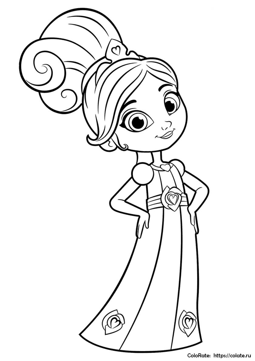 Раскраска Нелле исполнилось 8 лет распечатать | Принцесса ...