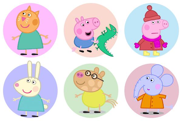 Свинка Пеппа - как раскрашивать героев