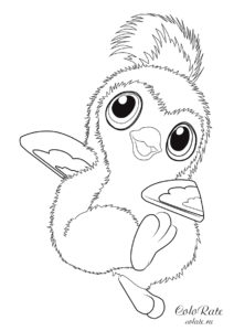 Раскраска Пингвиненок Хетчималс для девочек