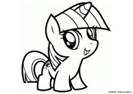 Раскраска Искорка Чиби - Мой маленький пони - распечатать и скачать