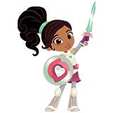 Нелла - принцесса-рыцарь раскраски для девочек