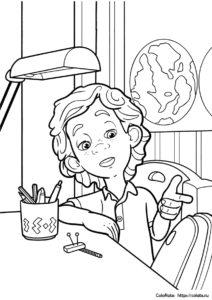 ДимДимыч из мультфильма Фиксики - бесплатная раскраска