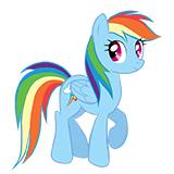Радуга Дэш - раскраски по мультфильму My Little Pony
