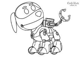Щенячий патруль - раскраска с Робопсом (рободогом)