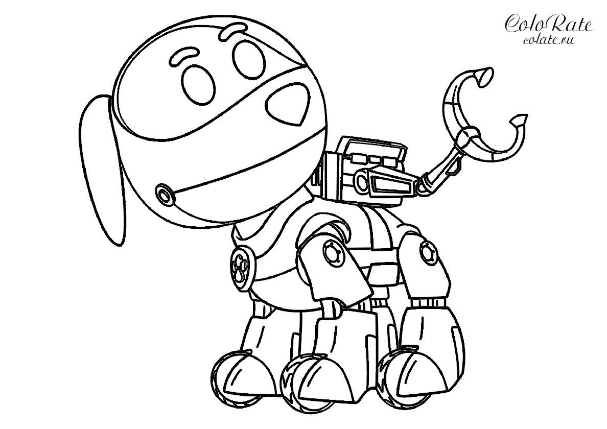 робопёс Robodog из щенячьего патруля распечатать раскраску