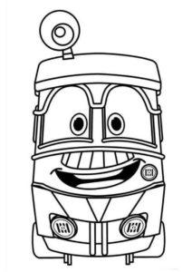 Робот-поезд Джеффри раскраска распечатать на а4 и скачать