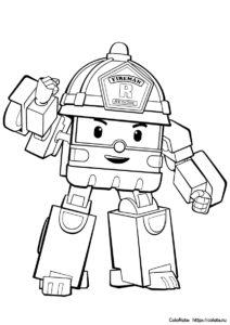 Роботрак Рой - раскраска для детей