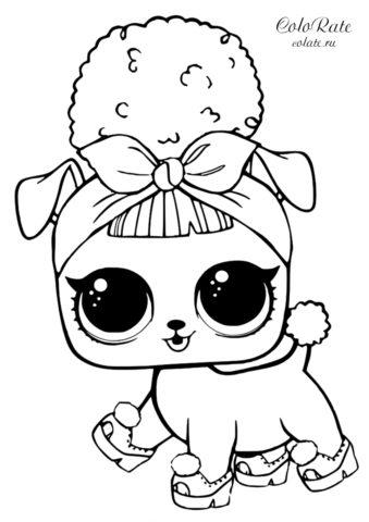 Разукрашка L.O.L Pets - Щенок Би