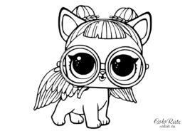 Куклы LOL питомцы - бесплатные раскраски - Сахарный щенок