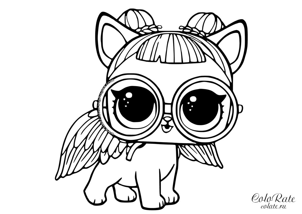 Раскраска Сахарный щенок распечатать | Куклы ЛОЛ / L.O.L