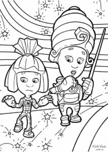 Симка и Мася устроили замыкание - раскраска