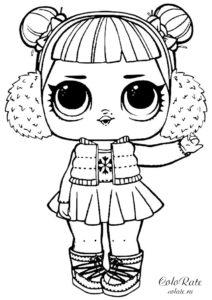 Куколка ЛОЛ Сюрприз Снежный ангел разукрашка для девочек