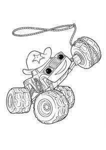 Старла - раскраска из мультфильма Вспыш и Чудо-машинки распечатать и скачать