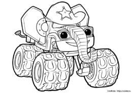 Старла — слон - разукрашка скачать и распечатать