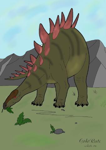 Как раскрасить стегозавра?