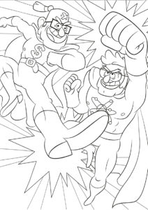 Стэн Пайнс - супергерой - скачать и распечатать раскраску