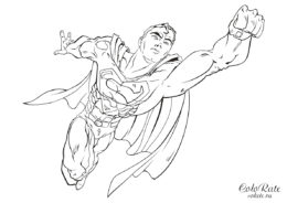 Супермен из комиксов распечатать раскраску бесплатно