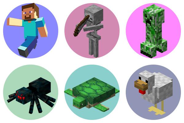 Существа Minecraft - как раскрасить