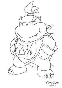 Раскраска с динозавриком в костюме