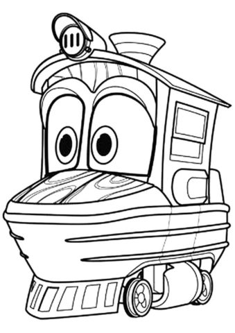 Утенок - бесплатная раскраска из мультфильма Роботы-поезда