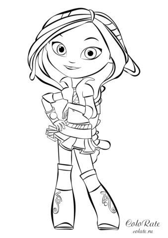 Сказочный патруль - раскраска с Варей для девочек