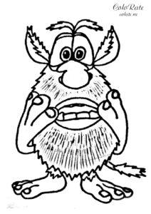 Всепоглощающий страх - раскраска по мультфильму Буба