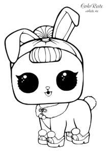 Раскраска куклы ЛОЛ - Зайчонок Кристалл
