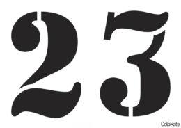 Бесплатный трафарет a_Stamper - А5 - Цифры 2-3 распечатать на А4 и скачать - Трафареты цифр