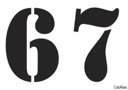 A_Stamper - А5 - Цифры 6-7 (Трафареты цифр) трафарет для печати на А4 и вырезания
