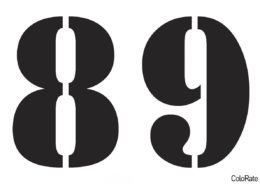 A_Stamper - А5 - Цифры 8-9 распечатать и скачать шаблон - Трафареты цифр