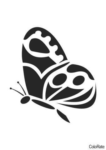 Распечатать трафарет Абстрактная бабочка - Трафареты бабочек