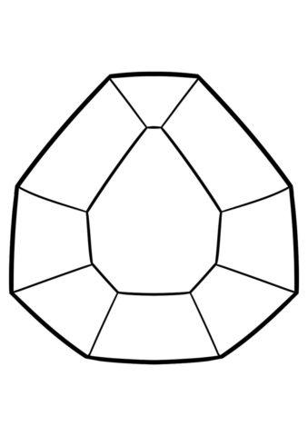 Алмаз распечатать и скачать раскраску - Майнкрафт
