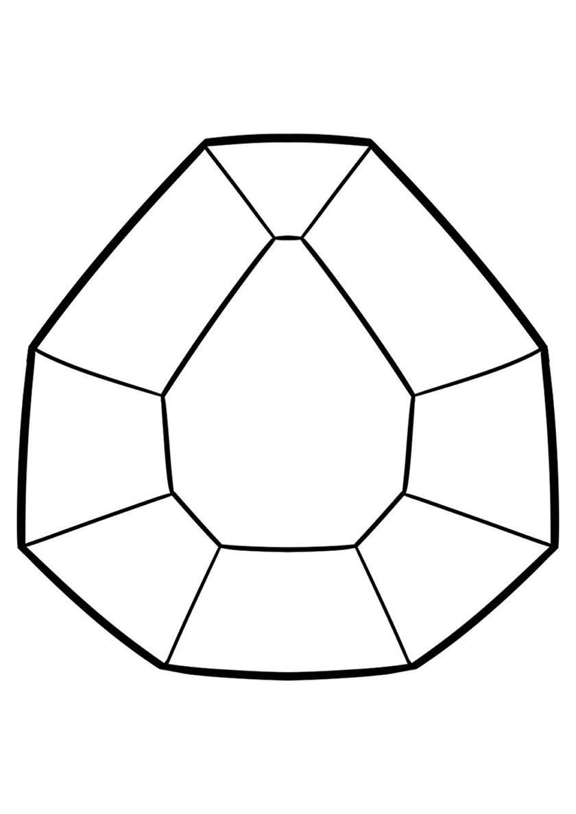 Раскраска Алмаз распечатать | Майнкрафт