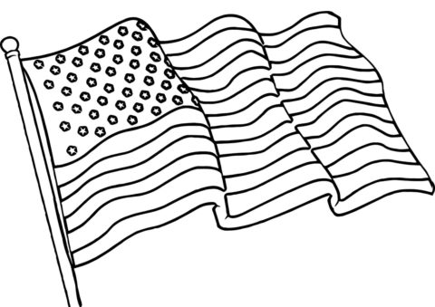 Флаги и гербы распечатать раскраску - Американский флаг