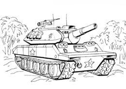 Американский танк Шеридан раскраска распечатать бесплатно на А4 - Танки
