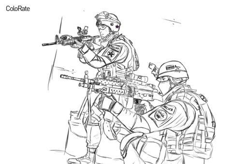 АМВД России распечатать раскраску - Военные