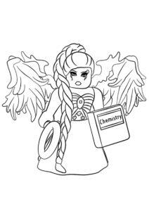 Ангелочек из Роблокса (Роблокс) распечатать раскраску