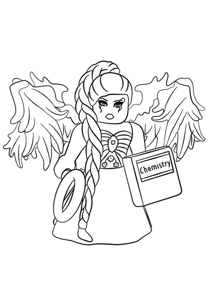 Раскраска Ангелочек из Роблокса распечатать | Роблокс