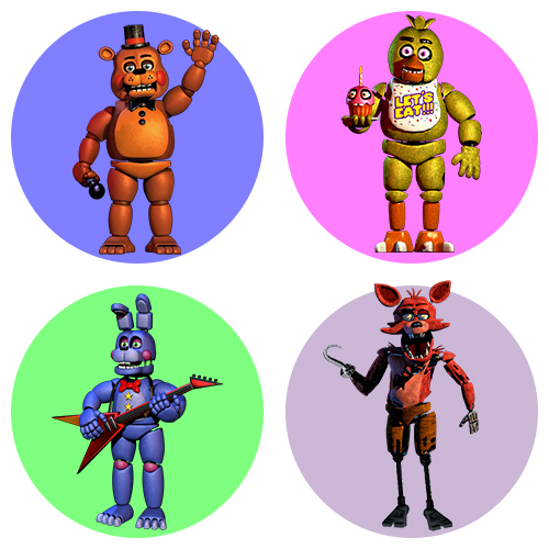 Аниматроники игры 5 ночей с Фредди