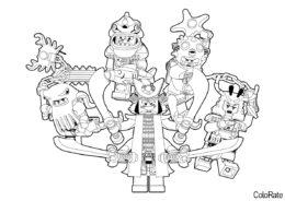 Армия злодеев из Ниндзяго бесплатная раскраска - LEGO Ниндзяго