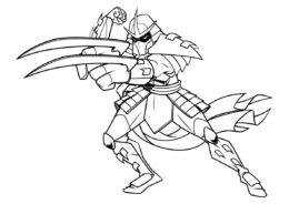 Атакующий Шреддер (Черепашки-ниндзя) бесплатная раскраска