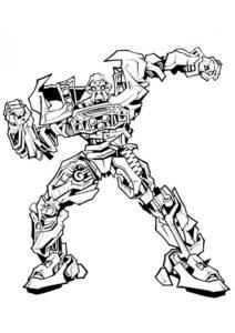 Автобот Рэтчет - Трансформеры распечатать раскраску на А4