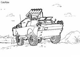 Автомобиль военного назначения раскраска распечатать на А4 - Военные