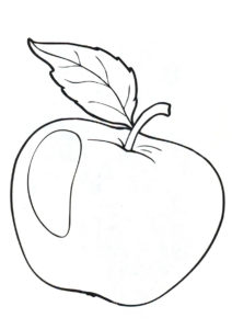 Бесплатная раскраска Айдаред - Яблоко