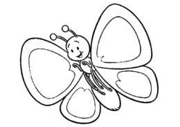 Бабочка для малышей разукрашка скачать и распечатать - Бабочки