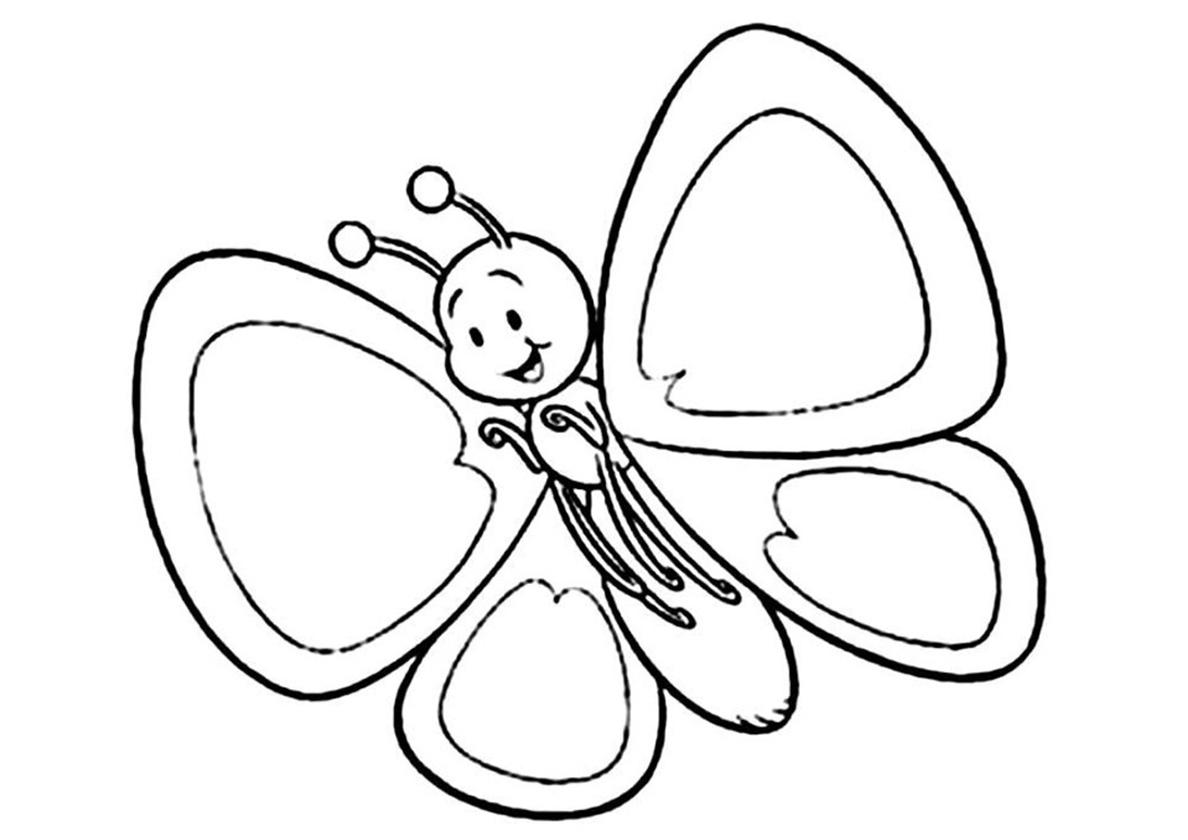 Раскраска Бабочка для малышей распечатать | Бабочки