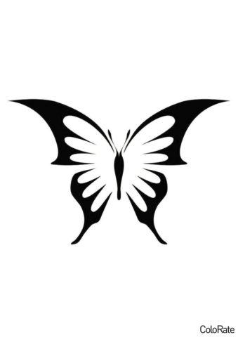 Трафарет Бабочка с острыми крыльями распечатать и скачать - Трафареты бабочек