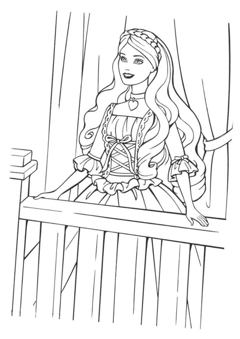 Раскраска Барби джульетта распечатать | Барби