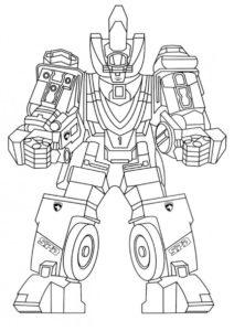 Разукрашка Базовый SPD робот распечатать и скачать - Роботы