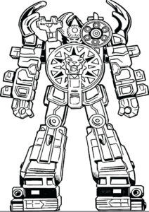 Боевой робот-тигр - Роботы распечатать раскраску на А4